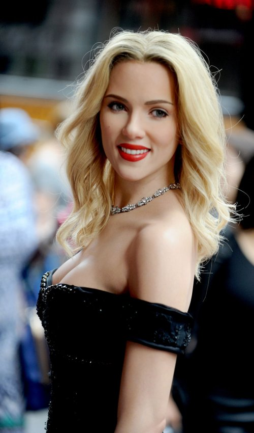 Scarlett Johansson wax figure in New York