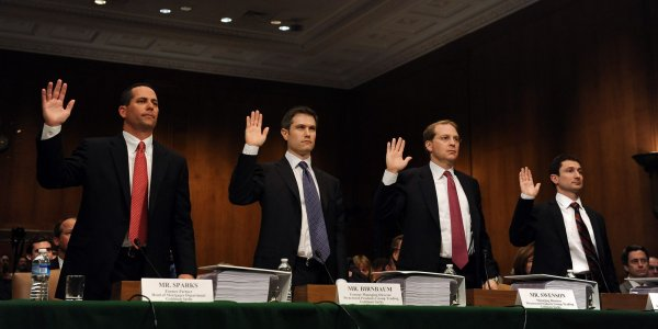 senate committee questions goldman sachs officials