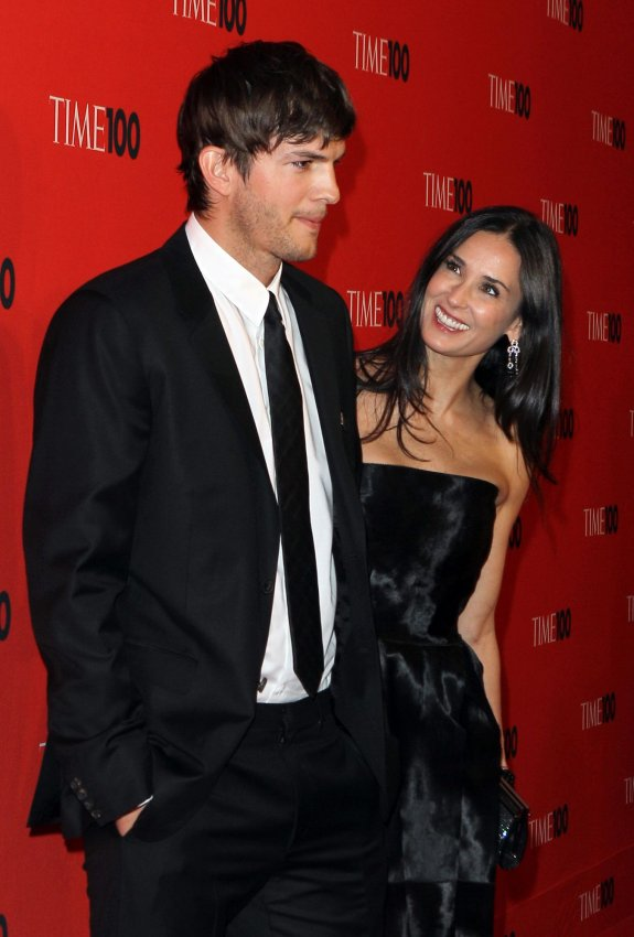 Demi Moore and Ashton Kutcher arrive at Time Magazines 100 Most Influential People Gala at the Time Warner Center in New York