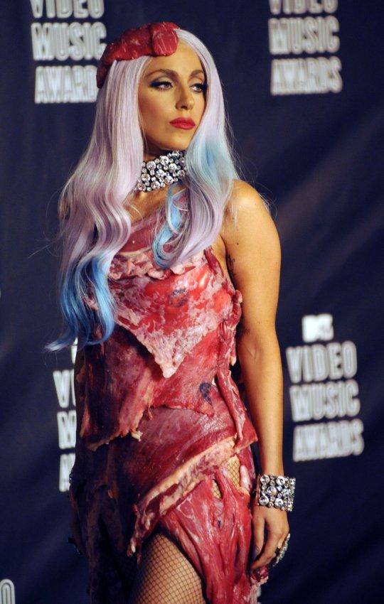 Lady Gaga's meat dress - All Photos - UPI.com