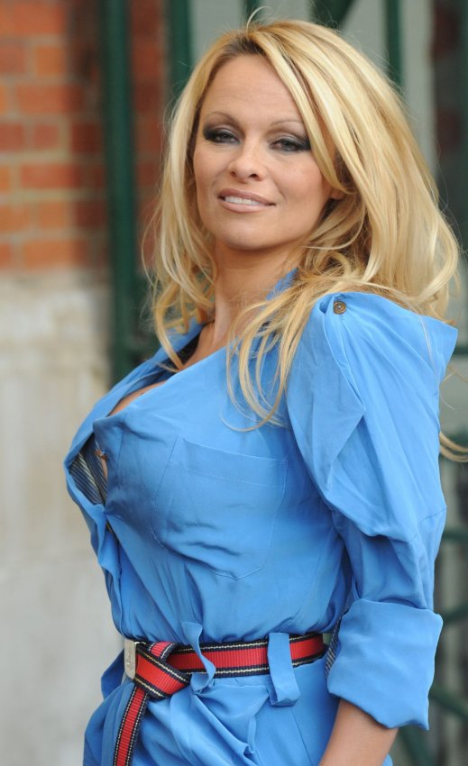 Pamela Anderson attends a photo call in London