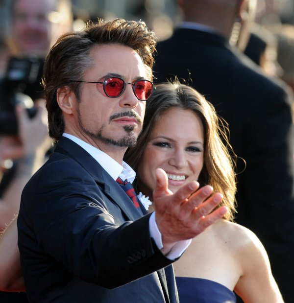 "Robert Downey Jr. attends the ""Iron Man 2"" premiere in Los Angeles"