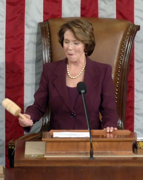 REP. PELOSI IS SWORN IN AS SPEAKER OF THE HOUSE