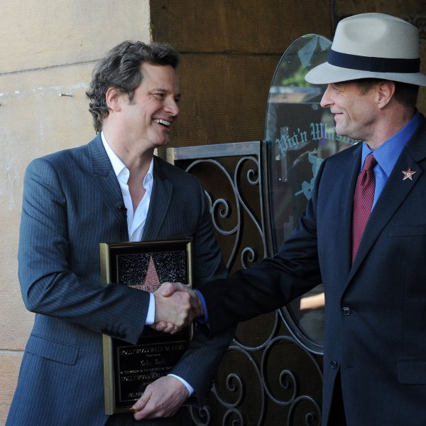 Colin Firth receives s...