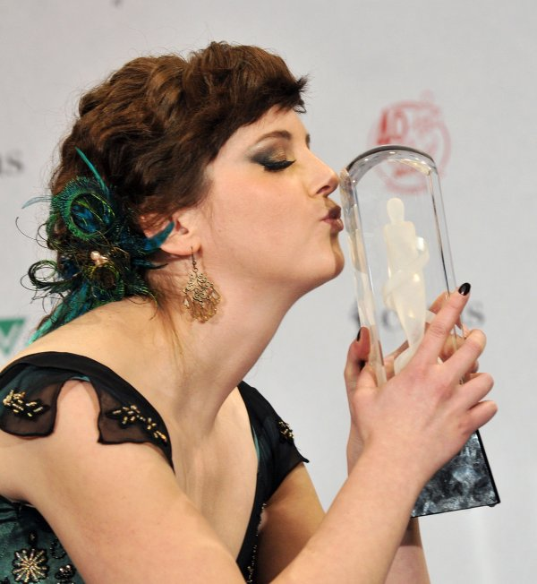 Meaghan Smith attends the 2011 Juno Awards in Toronto, Canada
