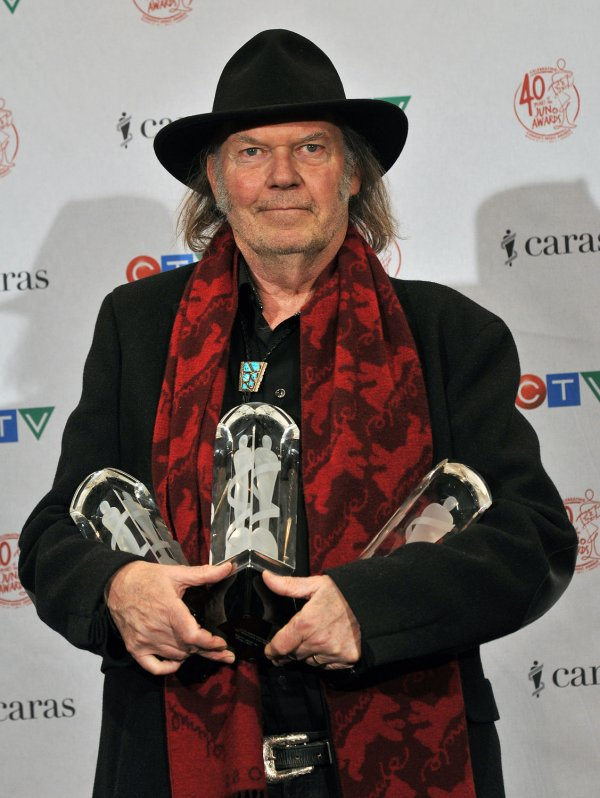 Neil Young attends the 2011 Juno Awards in Toronto, Canada