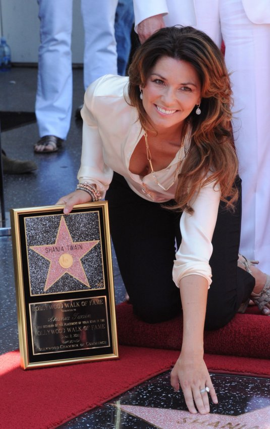 Shania Twain receives star on the Hollywood Walk of Fame in Los Angeles