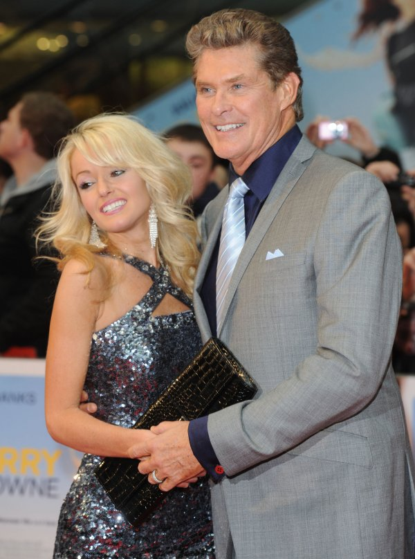 "David Hasselhoff and girlfriend attend ""Larry Crowne"" world premiere in London"