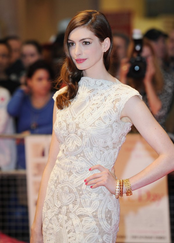 "Anne Hathaway attends ""One Day"" premiere in London"