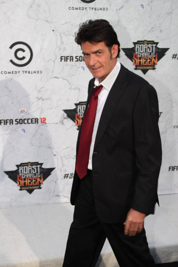 "Charlie Sheen arrives at the ""Comedy Central Roast of Charlie Sheen"" in Culver City, California"