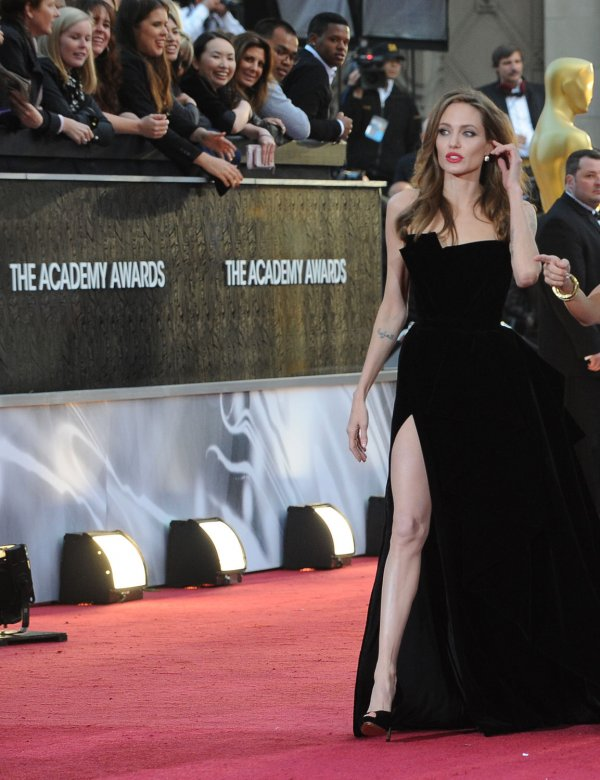 Angelina Jolie arrives for the 84th Academy Awards in Los Angeles