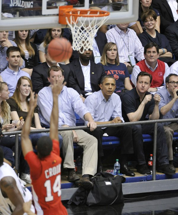 Obama and Cameron Watch NCAA Tournament in Dayton, Ohio
