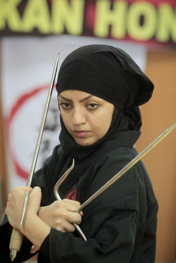Women study ninjutsu in iran