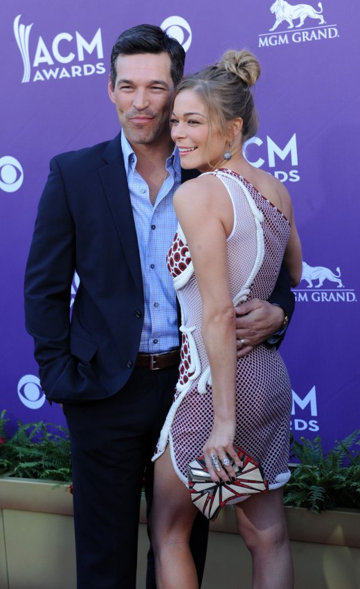 Eddie Cibrian and LeAnn Rimes arrive at the Academy of Country Music Awards in Las Vegas