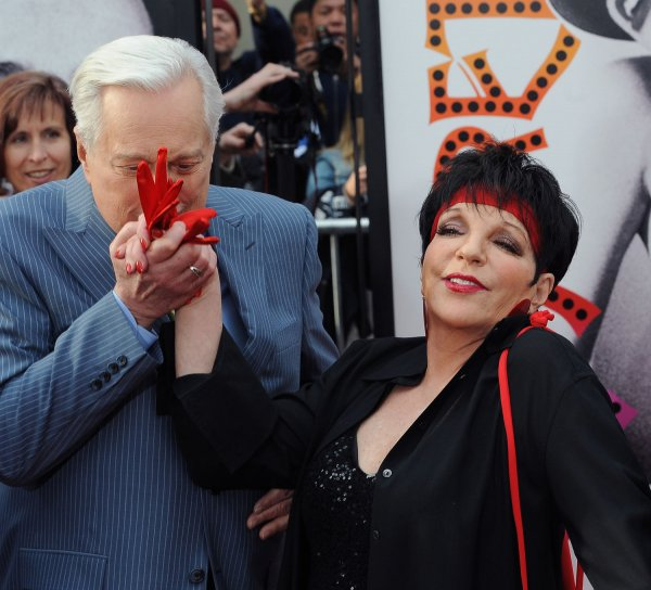 "Liza Minnelli and Robert Osborne attend the 40th anniversary restoration premiere of ""Cabaret"" in Los Angeles"