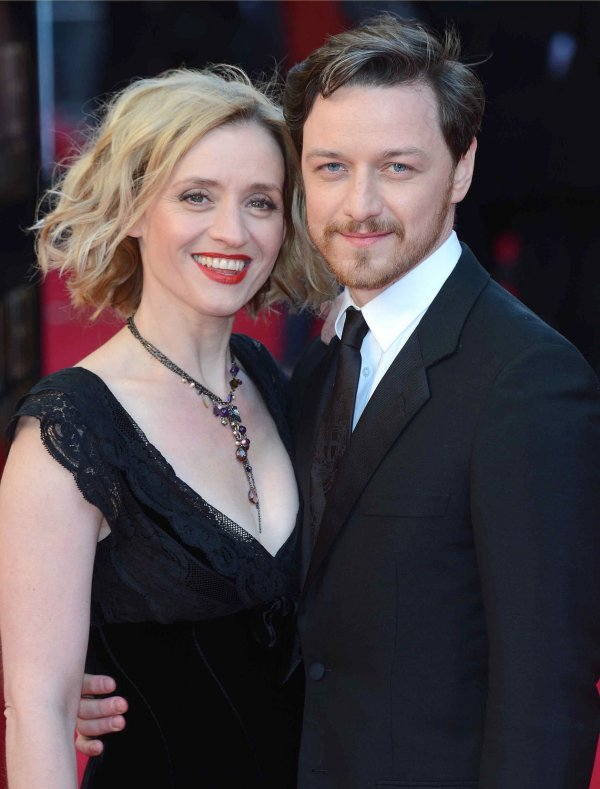 "Anne-Marie Duff and James McAvoy attend ""The Olivier Awards 2012"" in London"