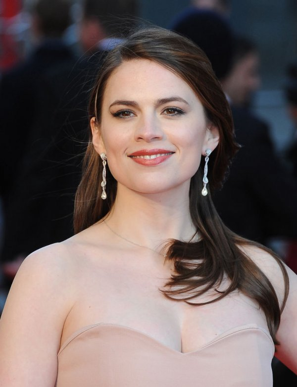 "Hayley Atwell attends ""The Olivier Awards 2012"" in London"