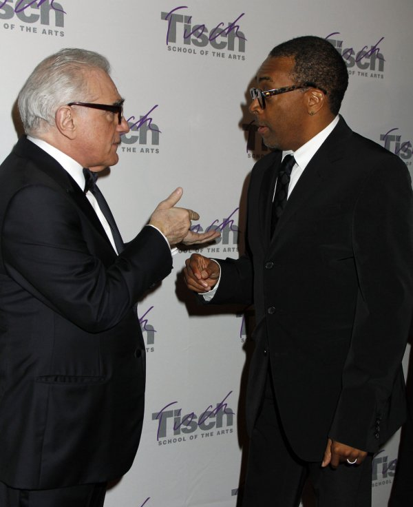 Spike Lee and Martin Scorsese arrive for the Tisch Gala in New York