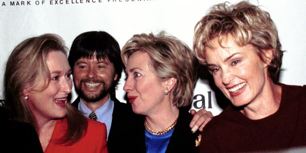 Actress Meryl Streep, film maker Ken Burns, Former First Lady Hillary Rodham Clinton and actress Jessica Lange