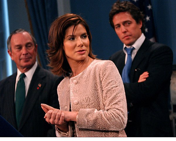 Sandra Bullock and Hugh Grant honored by New York City's Mayor Bloomberg