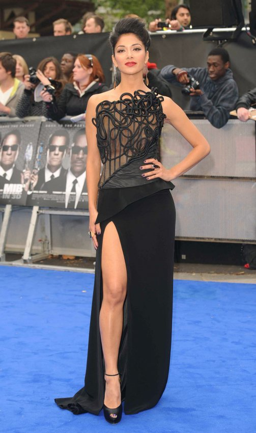 "Nicole Sherzinger attends the UK premiere of ""Men In Black 3"" in London."