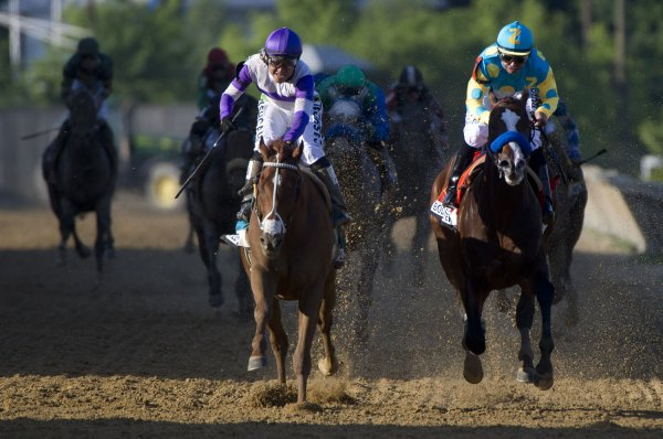 I'll Have Another wins the 137th Running of the Preakness Stakes in Baltimore