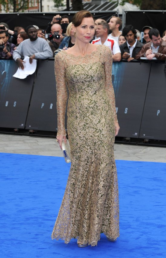 "Minnie Driver attends the UK Premiere of ""Prometheus"" in London."