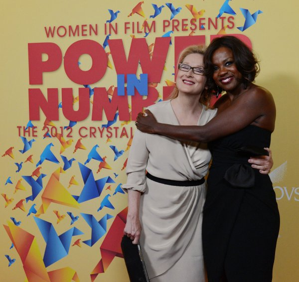 Meryl Streep and Viola Davis attend the Women in Film Crystal + Lucy Awards in Beverly Hills, California