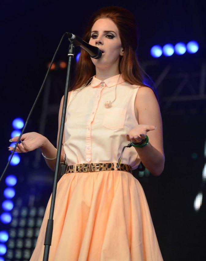 Lana Del Rey performs in London