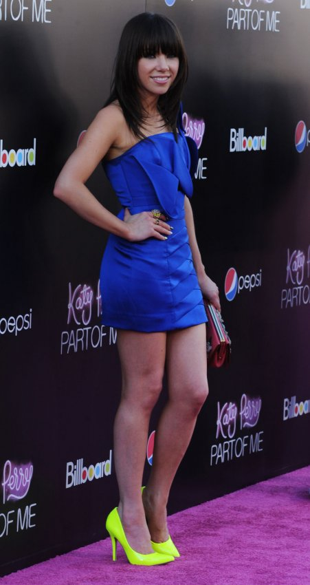 """Singer Carly Rae Jepsen attends the premiere of the musical documentary """"Katy Perry: Part of Me"""" in Los Angeles"""