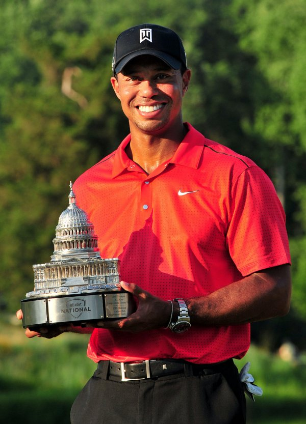Tiger Woods wins the AT&T National in Bethesda, Maryland