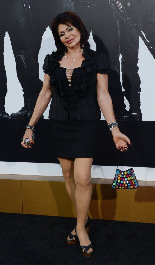"Jackie Stallone attends ""The Expendables 2"" premiere in Los Angeles"