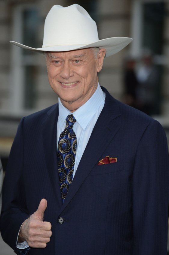 "Larry Hagman attends the launch of ""Dallas"" in London"