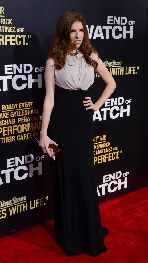 "Anna Kendrick attends the ""End of Watch"" premiere in Los Angeles"