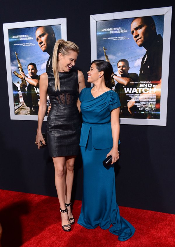 "Cody Horn and America Ferrera attend the ""End of Watch"" premiere in Los Angeles"