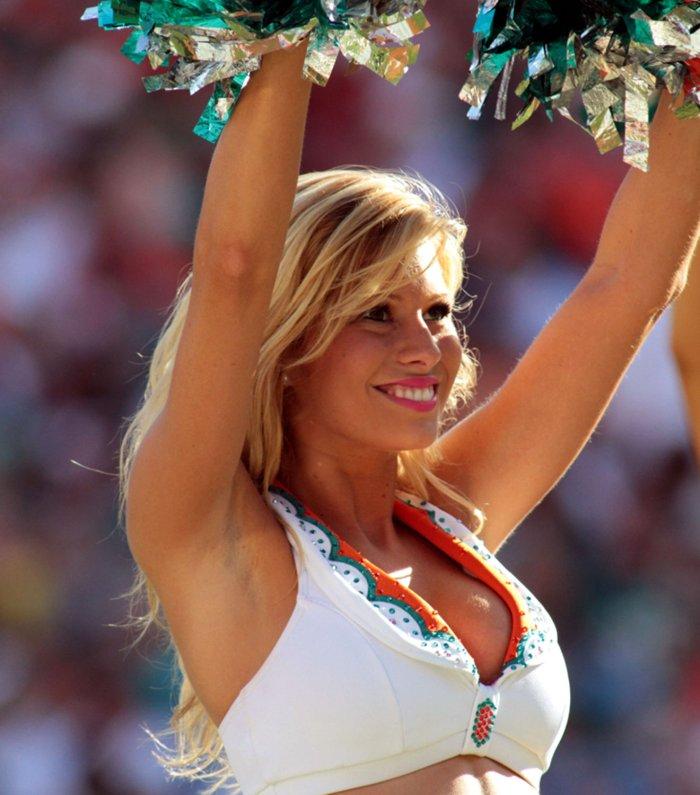 Miami Dolphin Cheerleaders in Miami