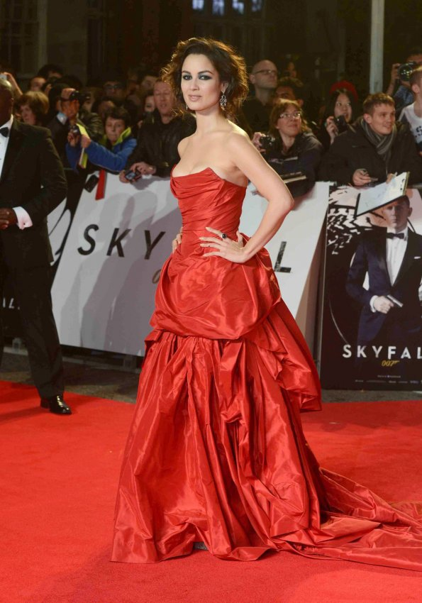"Berenice Marlohe attends The Royal World Premiere of ""Skyfall"" in London"