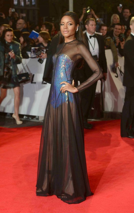 "Naomie Harris attends The Royal World Premiere of ""Skyfall"" in London"
