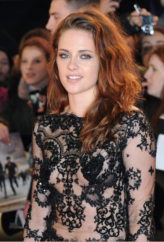 "Kristen Stewart attends The UK premiere of ""The Twilight Saga: Breaking Dawn Part 2"" in London."