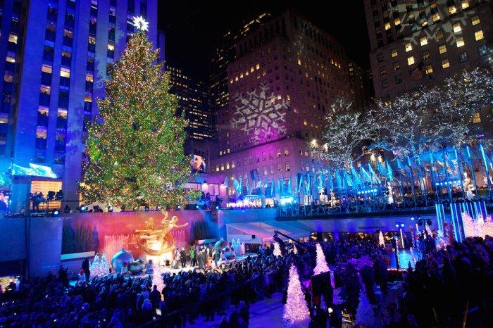 Lighting Of Rockefeller Christmas Tree.The Rockefeller Center Christmas Tree Lighting Ceremony