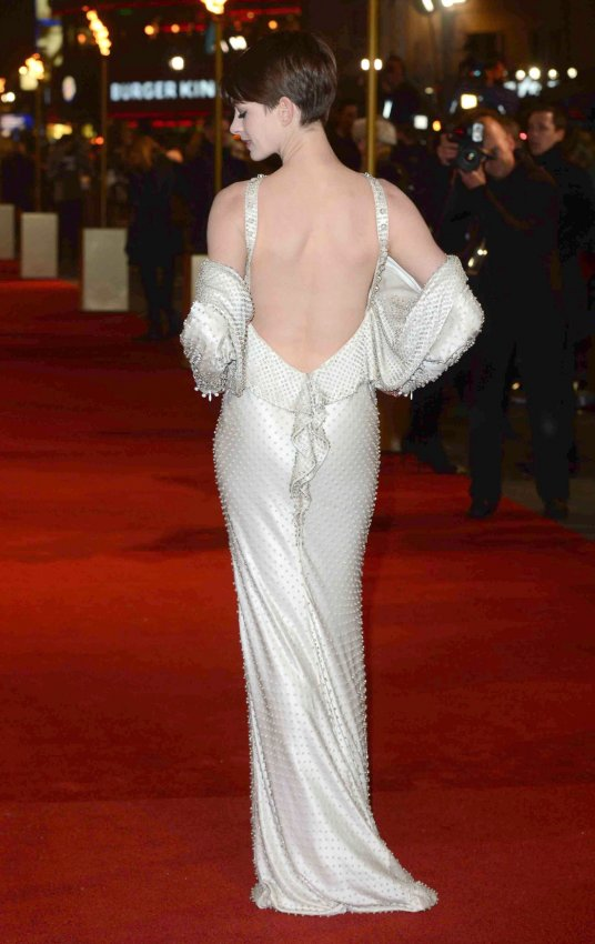 "Anne Hathaway attends The World premiere of ""Les Miserables"" in London."