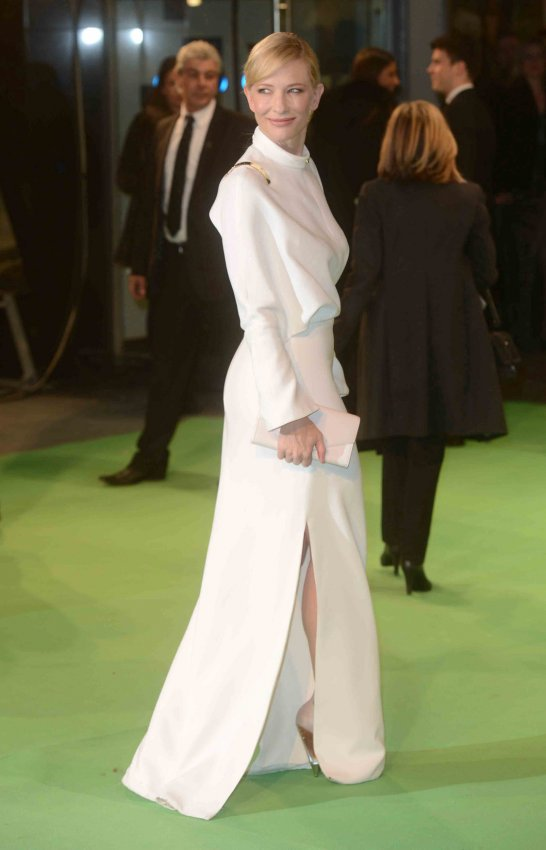 "Cate Blanchett attends The UK premiere of ""The Hobbit: An Unexpected Journey"" in London."