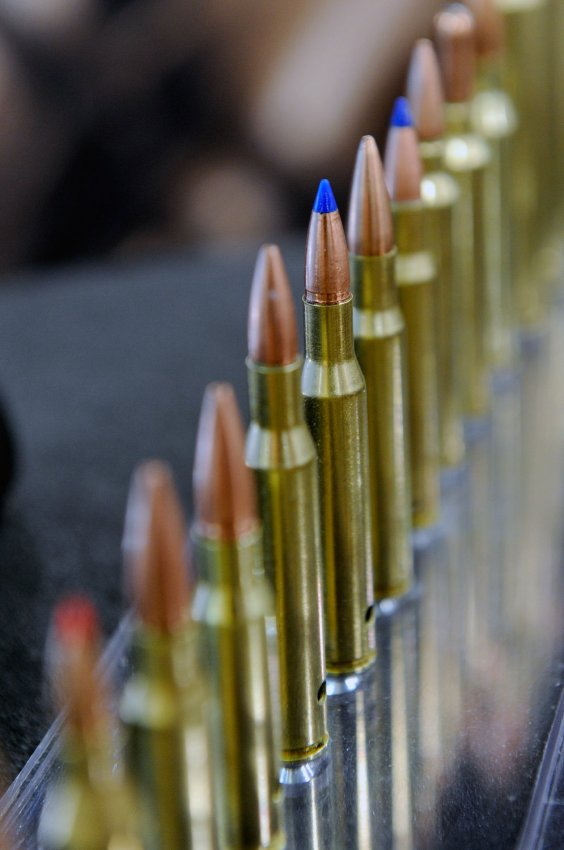 Rifle cartridges at the 35th Annual SHOT Show in Las Vegas