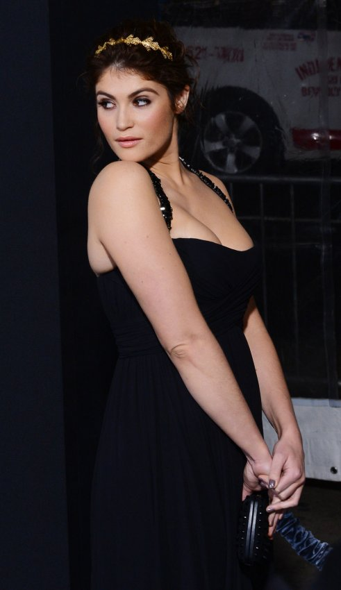 "Gemma Arterton attends the ""Hansel & Gretel: Witch Hunters"" premiere in Los Angeles"