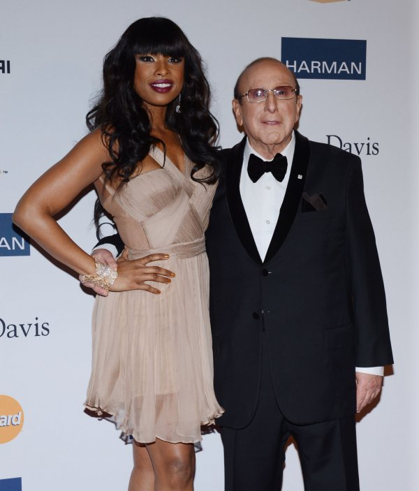 Clive Davis and Jennifer Hudson attend the Clive Davis pre-Grammy party in Beverly Hills, California