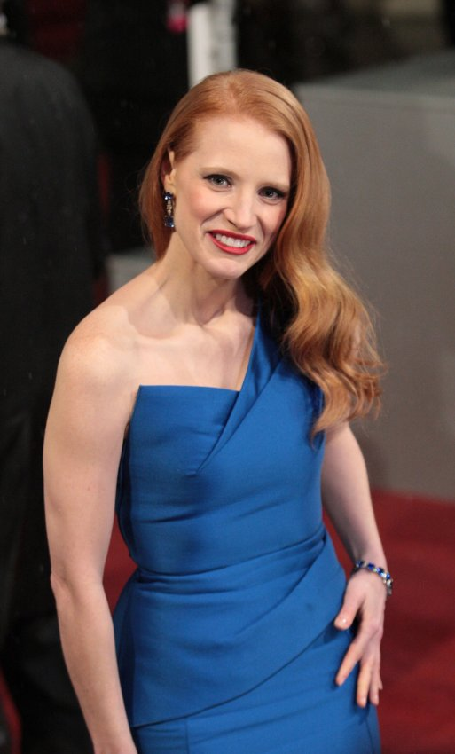 Jessica Chastain arrives at the Baftas Awards Ceremony