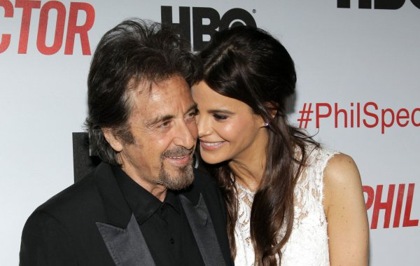Al Pacino and girldfriend Lucia Sola