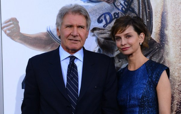 Harrison Ford and his wife Calista Flockhart