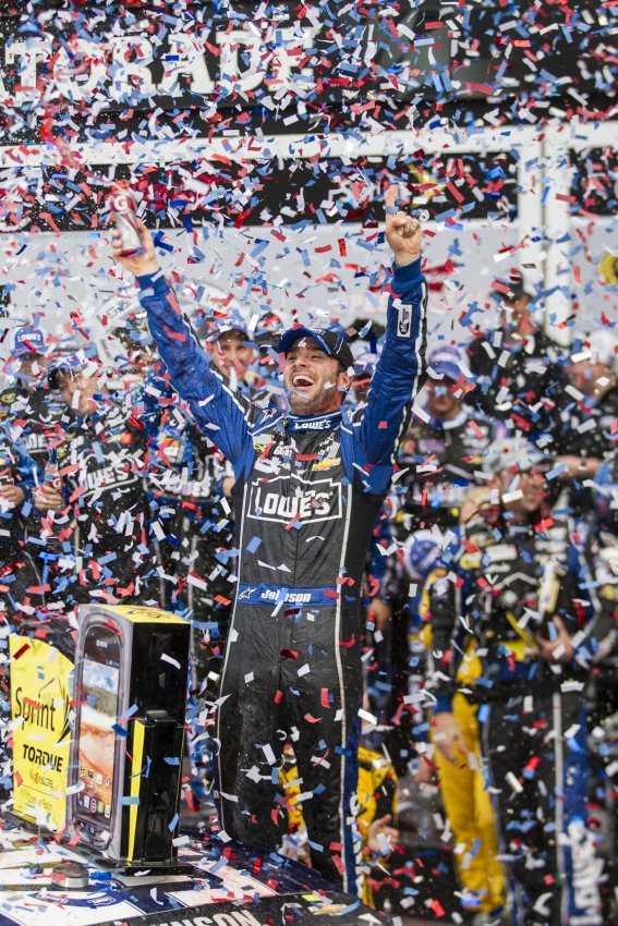 Jimmie Johnson wind the 55th Daytona 500