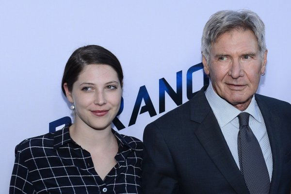 Harrison Ford with his daughter (L) Georgia Ford